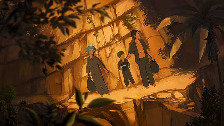 """Still from Dennis Do's animated feature """"Funan,"""" which won both the Grand Prize and the Audience Prize at the 2018 Animation Is Film Festival in Los Angeles."""